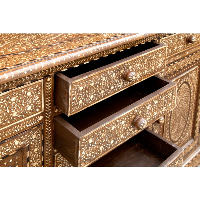 Majestic Bone Inlay Credenza For Sale In Los Angeles - Image 6 of 9