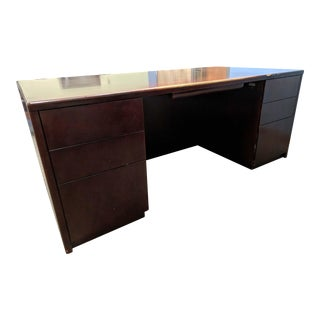 Cherry Finish Solid Wood Desk