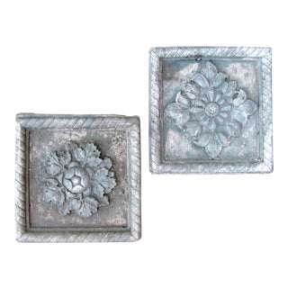 Cast Stone Architetctural Elements, Pair For Sale