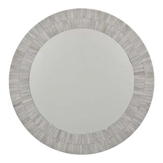 Round Bone Inlay Mirror For Sale