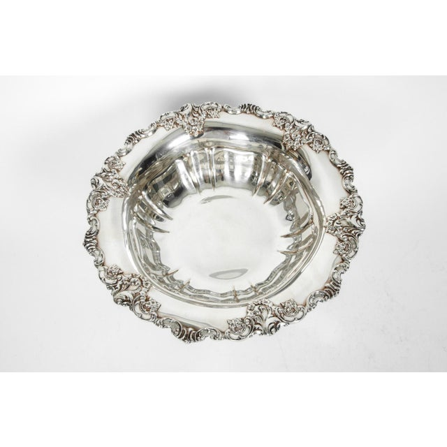 Silver Vintage Silver Plate Fruit Bowl Piece For Sale - Image 8 of 13