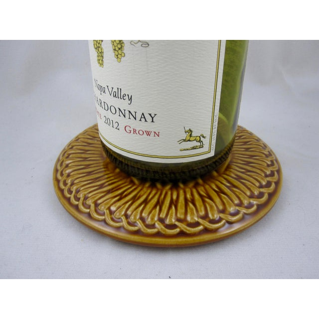 French Faïence Wine Bottle Coasters- A Pair - Image 4 of 9