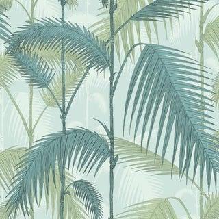 Cole & Son Palm Jungle Wallpaper Roll - Print Room Blue/Mint For Sale