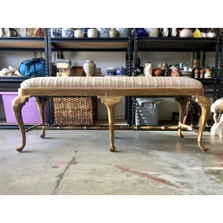 Late 20th Century Vintage William Switzer Designer Upholstered Bench Preview