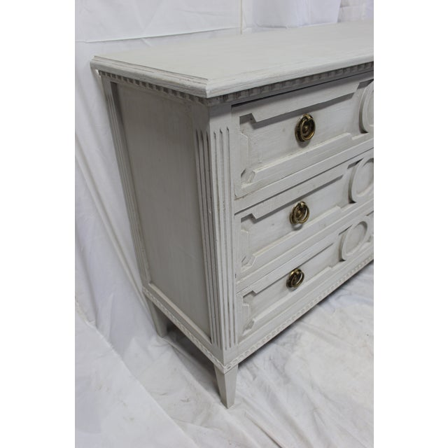 Gold 20th Century Gutavian Gray Oak Bedside Chests - a Pair For Sale - Image 7 of 8