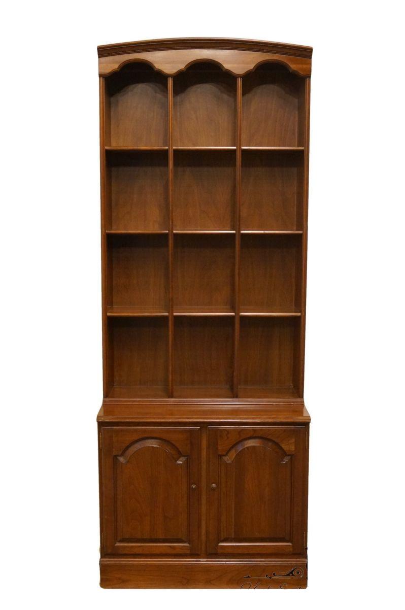 Ethan Allen Georgian Court Cabinet With Bookshelf