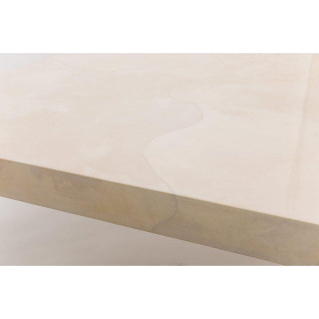 Pair of 1980s Karl Springer Goatskin Occasional Tables For Sale - Image 9 of 11