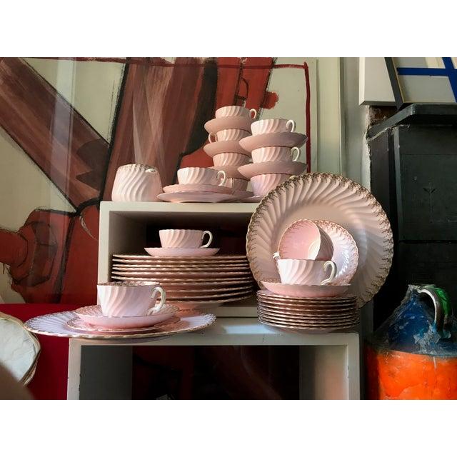 Minton Shell Pink Gilt Porcelain Service for 12, C. 1950 - Image 3 of 7
