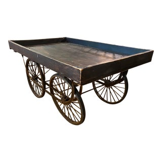 Vintage Style Rolling Display Merchandise Cart For Sale