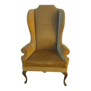 1960s Vintage Heritage-Henredon Apricot Classic Wingback Chair