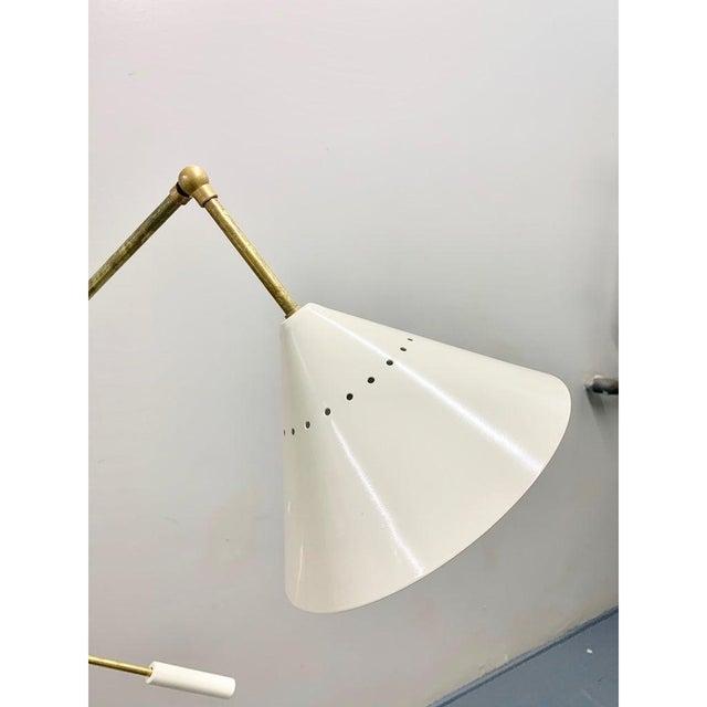 Italian Brass Mid Century Style Floor Lamp For Sale - Image 10 of 12