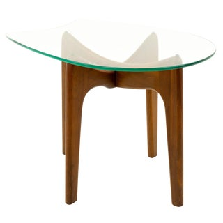 Mid Century Modern Adrian Pearsall Sculpted Walnut Side Table For Sale
