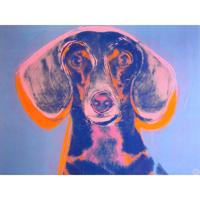 "1990s Andy Warhol Foundation Vintage 1998 Rare Lithograph Print Framed Poster ""Portrait of Maurice"" 1976 For Sale - Image 5 of 13"