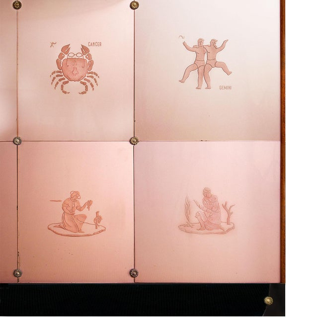 Art Deco Art Deco Decorative Panel With Console, Attributed to Fontana Arte - Italy 1930 For Sale - Image 3 of 13