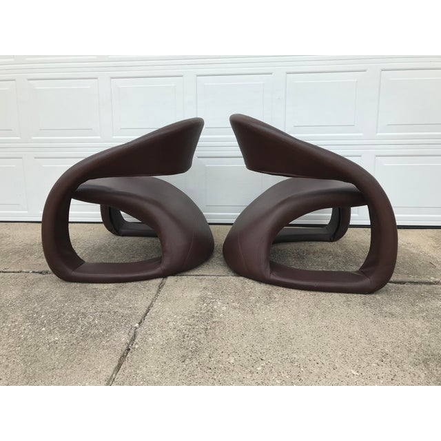 1990s Vintage Jaymar Memphis Sculptural Cantilever Lounge Chairs - a Pair For Sale In Dallas - Image 6 of 9