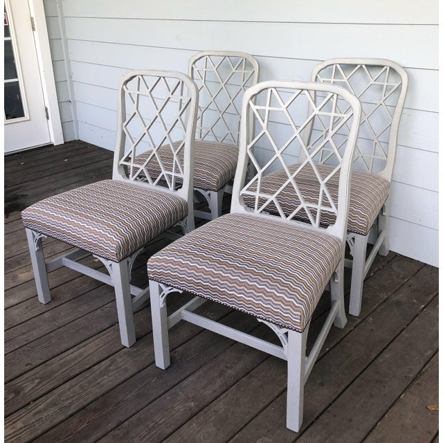 Hickory Furniture Linwood Chippendale Chairs- Set of 4 For Sale - Image 11 of 11