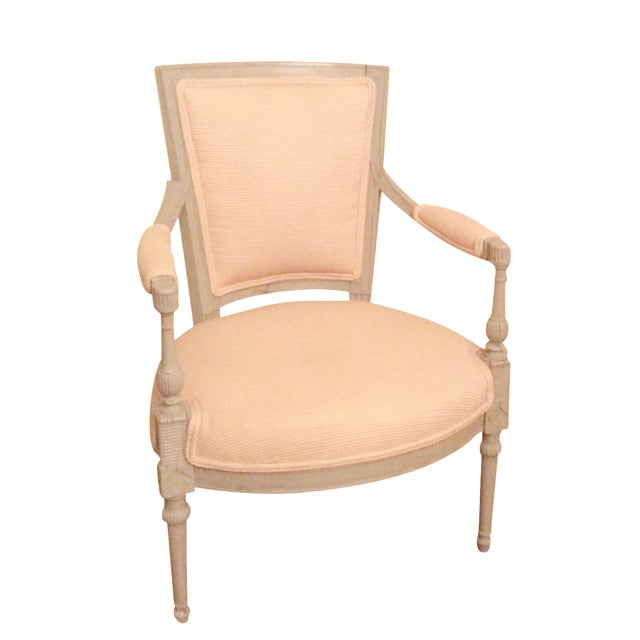 French Ivory Fauteil Chair - Image 1 of 4