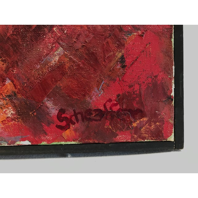 1960s Abstract Sun Oil Painting For Sale In Los Angeles - Image 6 of 9