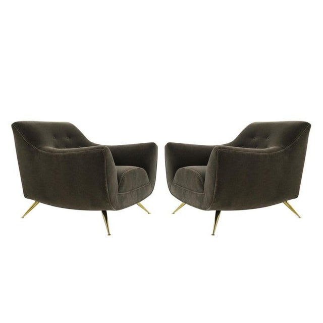 Henry Glass Lounge Chairs in Mohair - a Pair For Sale - Image 13 of 13