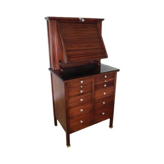 Antique Mahogany Optometrist Genothalmic Cabinet With Lens Samples For Sale