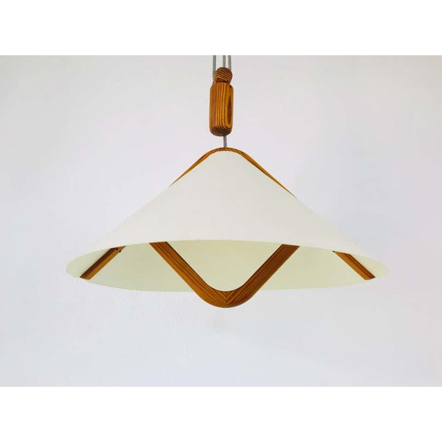 Adjustable Midcentury Wooden Pendant Lamp with Counterweight by Domus, 1960s For Sale - Image 9 of 13