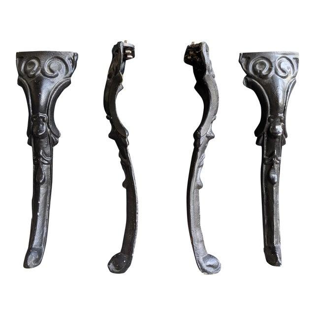 Fine English Pub Style Black Iron Coffee Table Legs Set Of 4 Interior Design Ideas Clesiryabchikinfo