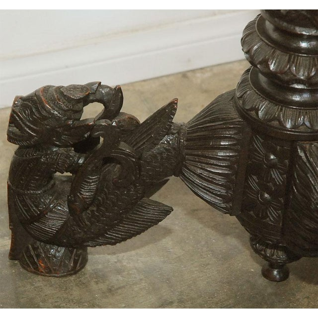 Hand Carved Burmese Occasional Table For Sale In Los Angeles - Image 6 of 9