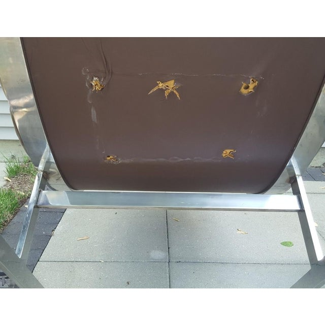 Mid-Century Modern Kipp Stewart for Directional Chrome Lounge Chairs - A Pair For Sale - Image 9 of 11