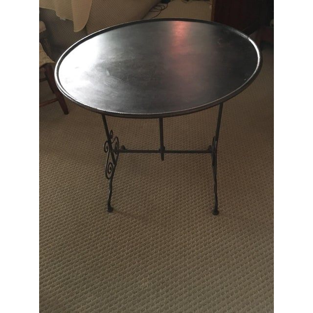 French Antique French Wine Tasting Table For Sale - Image 3 of 3