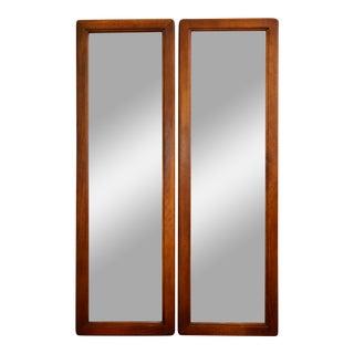 Narrow Modernist Mirrors - A Pair