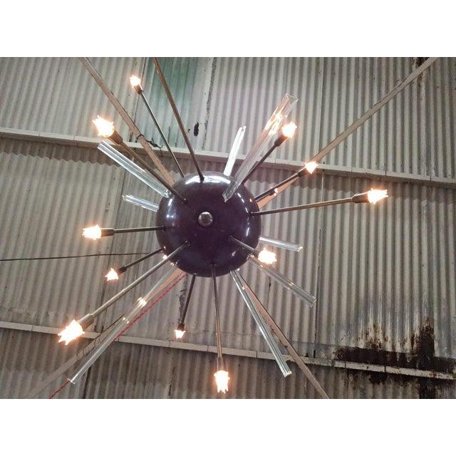 Fabulous Copper & Glass Rod Sputnik Chandelier For Sale - Image 4 of 5