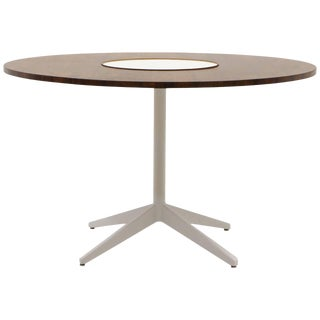 Lazy Susan Round Dining Table Very Rare Brazilian Rosewood Top For Sale