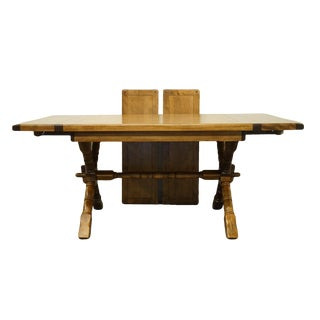 20th Century Mission Temple Stuart Rockingham Solid Maple Dining Table For Sale