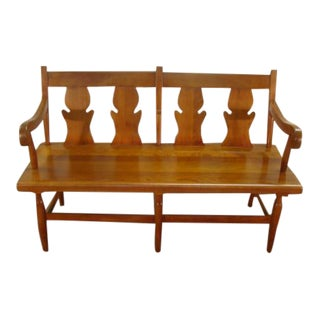 Stickley Solid Cherry Settee or Bench For Sale