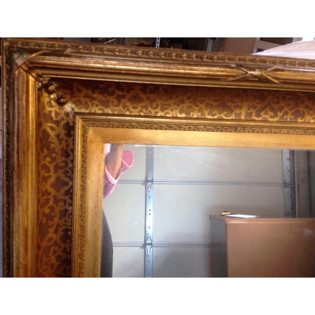 Antique Gilt-Wood Hand-Carved Mirror - Image 5 of 8
