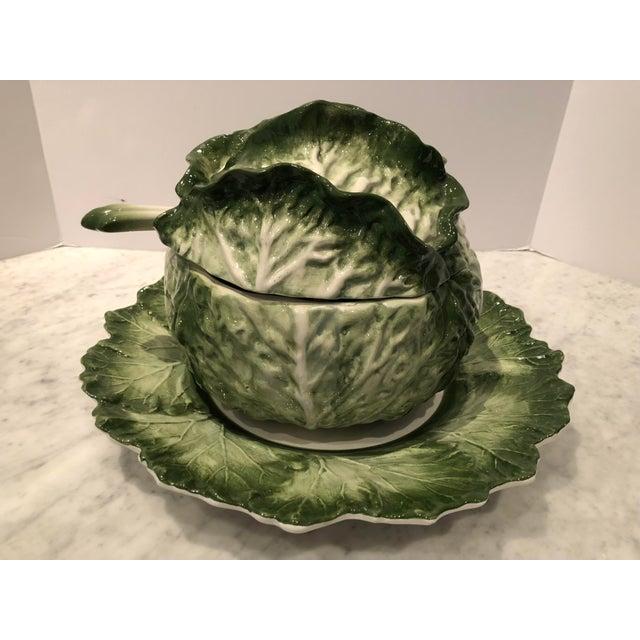 1970s Vintage Lovely Lettuce Leaf Soup Tureen For Sale In New York - Image 6 of 8
