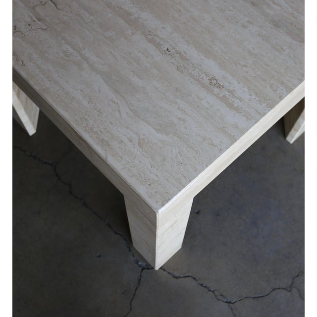 Stone Vintage Travertine Side Table Circa 1980 For Sale - Image 7 of 13