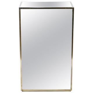 Large Mirrored and Brass Pedestal, 1970s For Sale