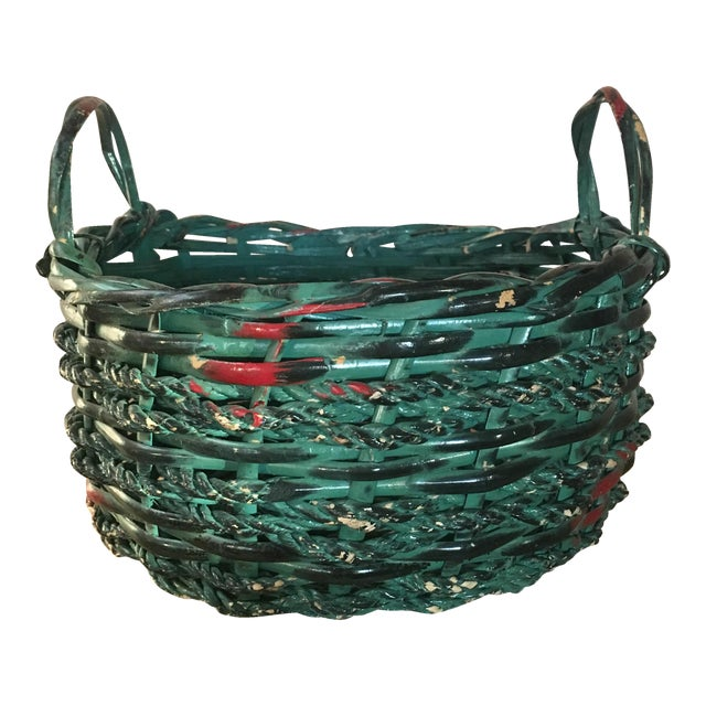 Painted Basket - Boho Chic - Image 1 of 4