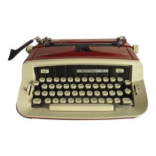Vintage Red Royal Portable Typewriter