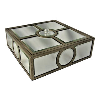 Cyan Designs Mirrored Decorative Box For Sale