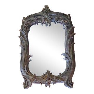 Hollywood Regency Giltwood Mirror For Sale