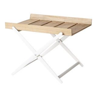 Cane-Line Rail Folding Side Table For Sale