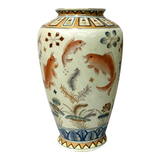 Gold Fish Design Vase
