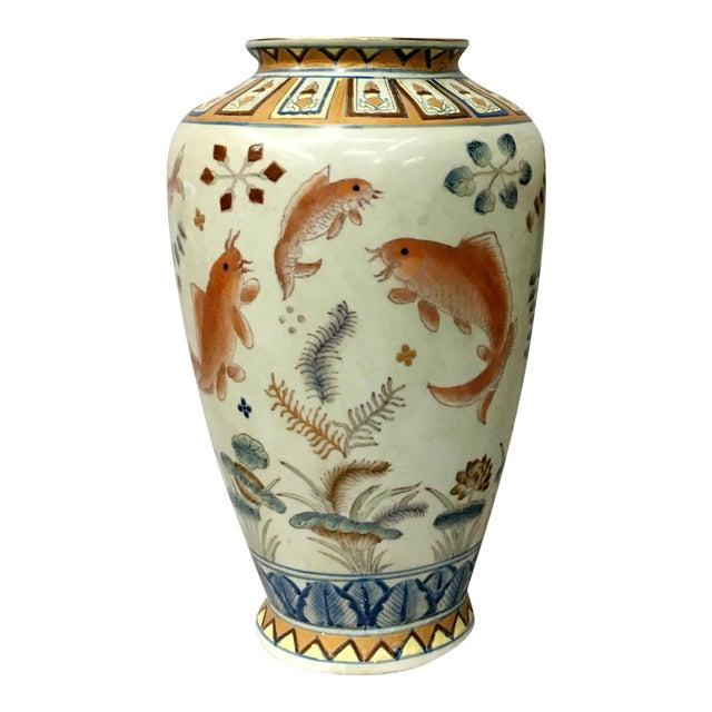 Gold Fish Design Vase For Sale