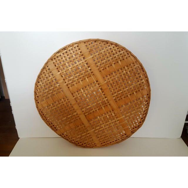 Large Vintage Bamboo Fish Drying Basket - Image 5 of 6