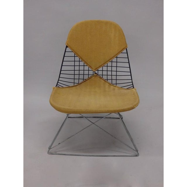 Americana Early and Original Charles and Ray Eames Lkr Chair on Zinc Cats Cradle Base For Sale - Image 3 of 8