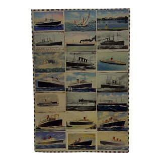 Late 20th Century Vintage Original Ship & Ocean Liner Poster For Sale