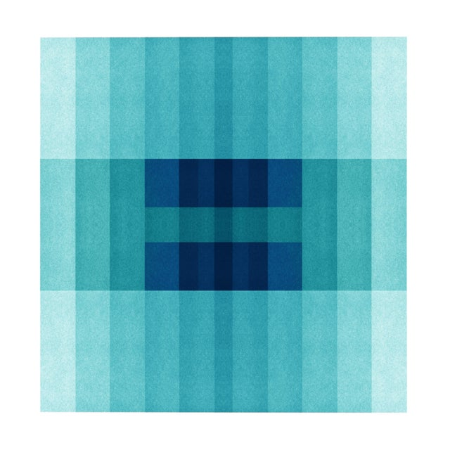 "Abstract ""Color Space Series 30: Ocean Blue Gradient"" Print For Sale - Image 3 of 3"