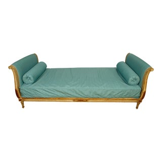 Newly Reupholstered Antique French Daybed For Sale